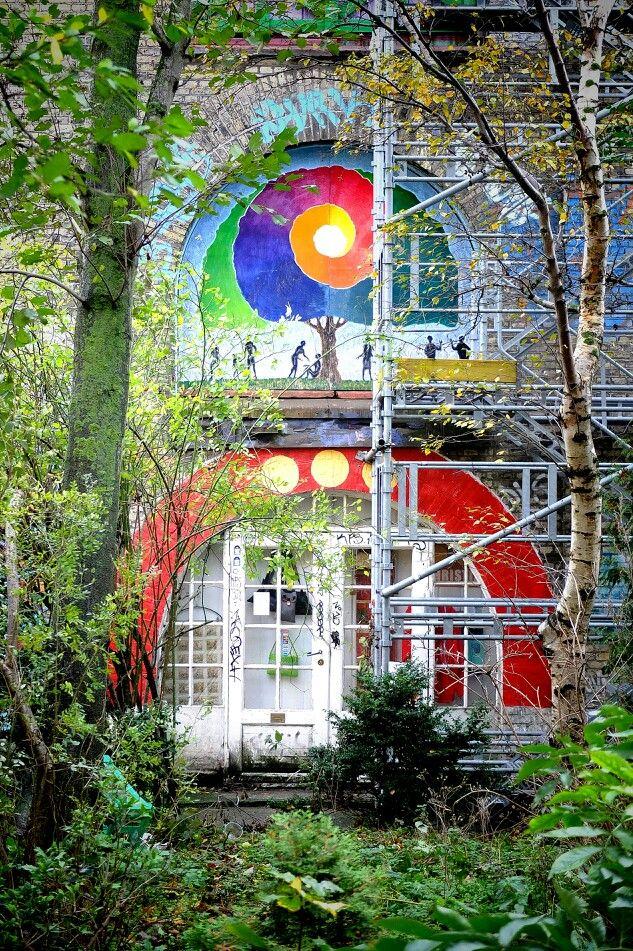 A little bit of home. Street art - Christiana, Copenhagen, Danemark