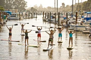Santa Cruz, CA  Stand up Paddle Board Rental and classes.  Sounds fun.