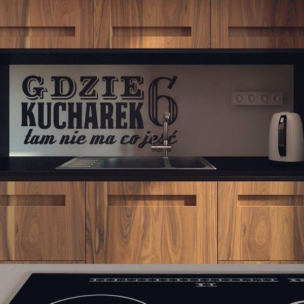 10-614 naklejka kuchenna, do kuchni 'kucharek 6' :: naklejkidekoracyjne.net