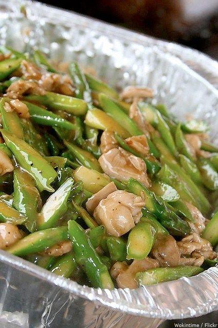 Жареная курица со спаржей и фисташками рецепт – низкокалорийная еда: основные блюда. «Афиша-Еда»