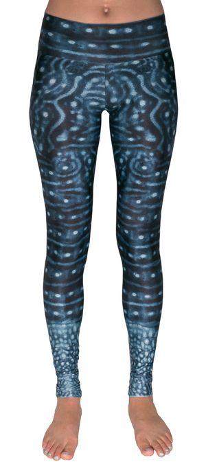 whale shark warrior leggings, size medium