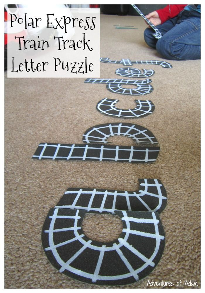 letter formation poems%0A Polar Express Train Track Letter Puzzle