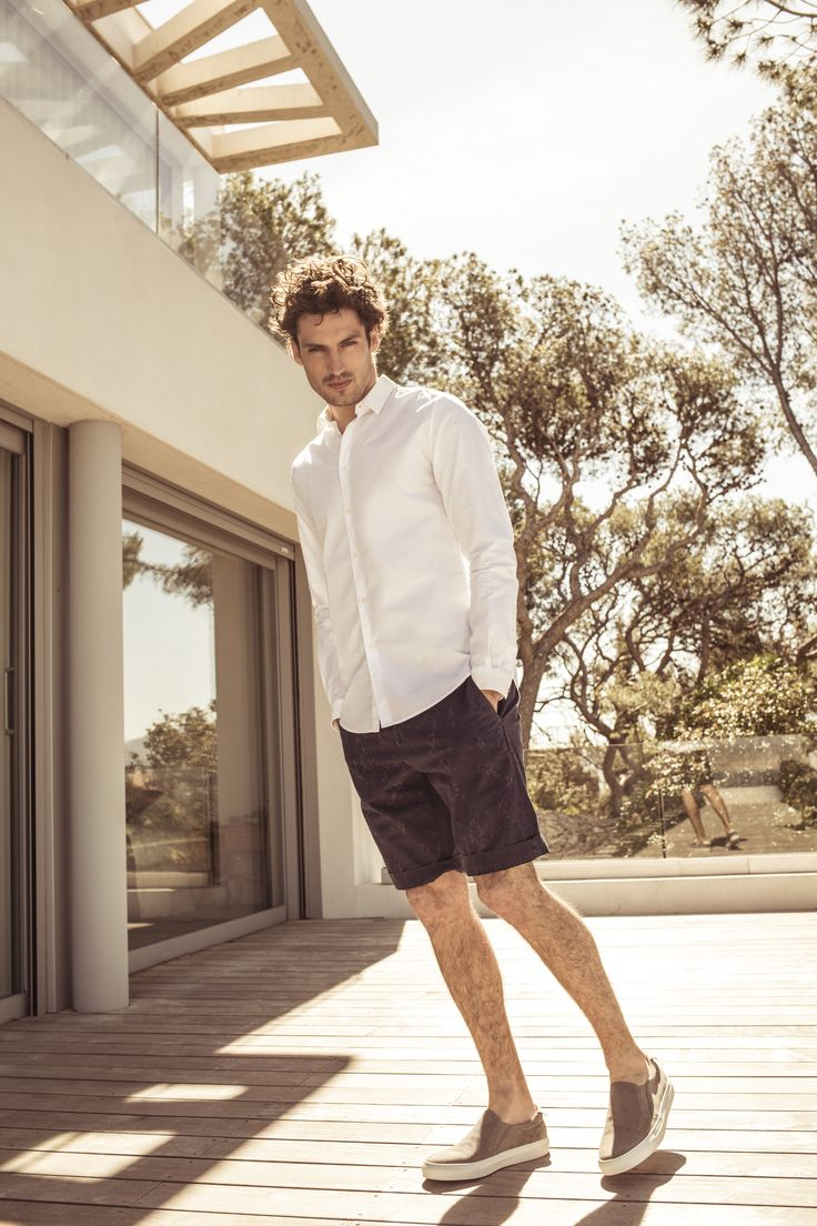 SUMMER TIME - Chemise blanche et bermuda IKKS Men, collection homme Printemps/Eté 2017 #menstyle #ss17