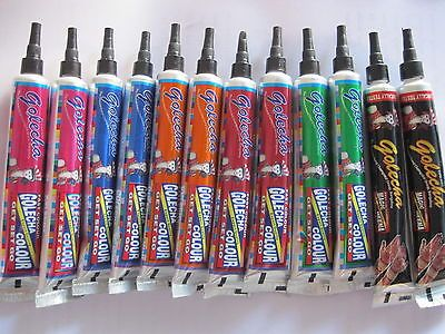 12 Colored HENNA paste tattoo kit body art temporary ink tubes black FREE SHIPP
