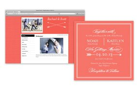 Free wedding websites to match invitations from paperdivas