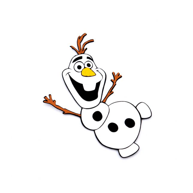 Handmade gift inspired from Olaf Frozen, made by applying multiple layers of cardboard. #gifts