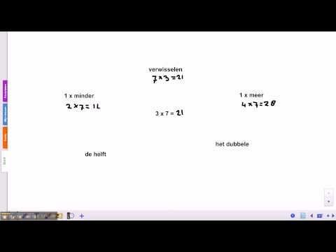 ▶ Pluspunt 3: groep 5 blok 4 les 3 tafel van 7 en 8 - YouTube