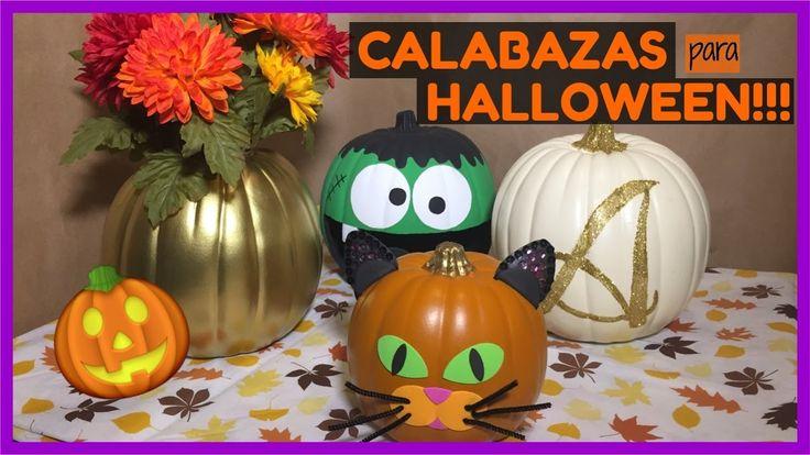 Cómo decorar calabazas para Halloween! Súper fáciles de hacer!