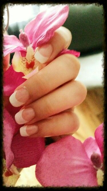 Witte french manicure acrylnagels zelf gezet
