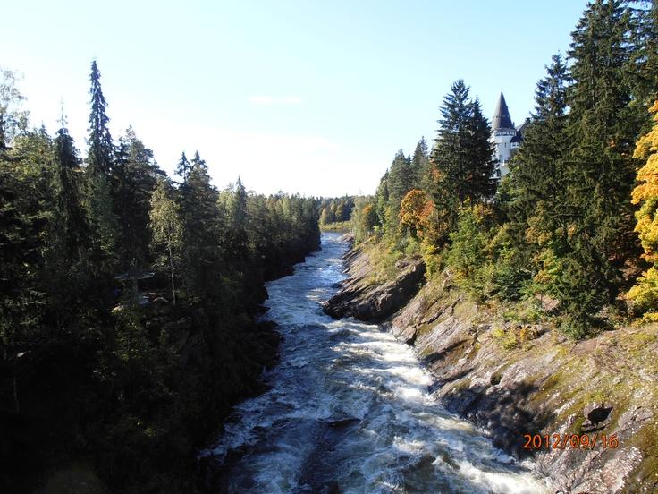 Imatra rapids in September.