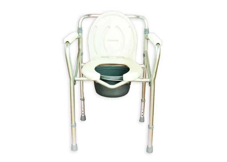Aluminium Folding Commode by Pedder Johnson is designed for bed side use. The Aluminum folding commode is light in weight, and includes a plastic pail with cover along with toilet seat, it folds completely for ease of transportation.