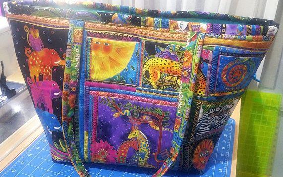 Laurel Burch Large Tote Bag -  Laurel Burch Bag  - Tote Bag - Laurel Burch Print - Handbag Tote Bag - Market Tote Bag - Overnight Bag