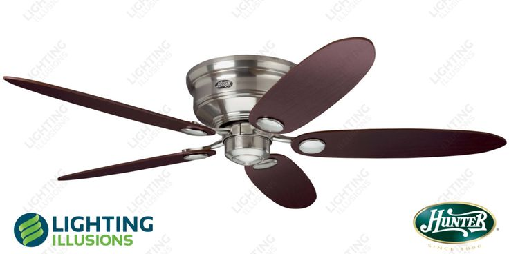 13 best ceiling fan images on pinterest blankets ceilings and 289 brushed nickel hunter low profile iii ceiling fan modern timber blades ceiling mozeypictures Choice Image
