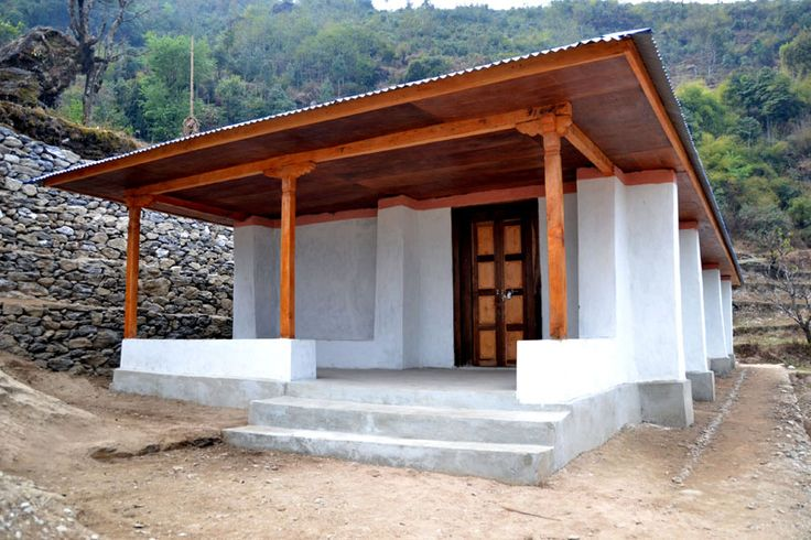 Sand bag house construction completed earthbag school nepal 2