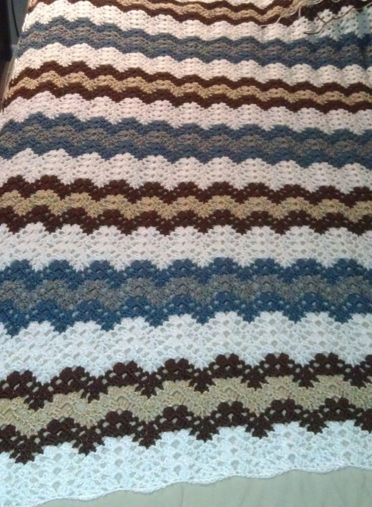 Increíble Patrón De Crochet Afghan Ondulación Bosquejo - Ideas de ...