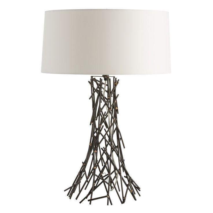 Arteriors 42018 927 grazia 1 light table lamp in natural iron brass welds