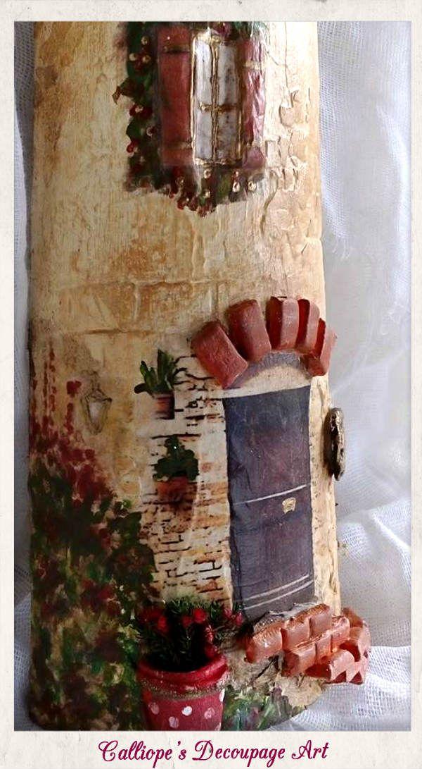 Decorative Large Tile | Calliope's Decoupage Art