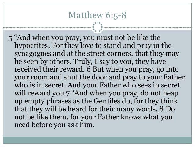 matthew 6:5 - Google Search