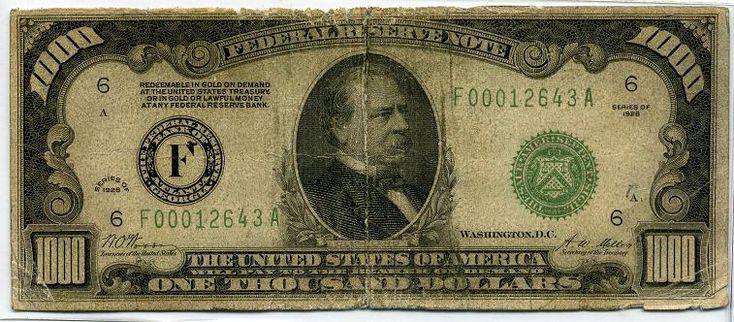 1000 Dollar Bill - Coin Community Forum