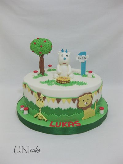 C224. 1-vuotiskakku. 1st birthday cake.