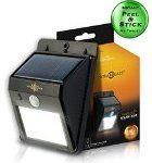 #7: Solarblaze Bright SOLAR Powered Outdoor LED light  auto on at night with motion sensor wireless security lighting NO TOOLS Easy Peel 'N Stick lights for patio outside wall stairs home RV deck