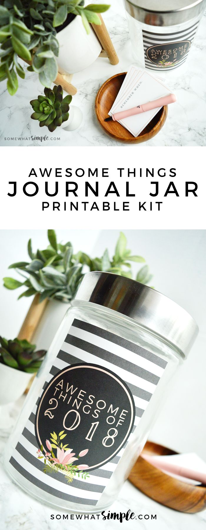 Hang on to your hats, we've put together our 2018 Journal Jar Kit with a label + journaling cards! (And they turned out darling!)