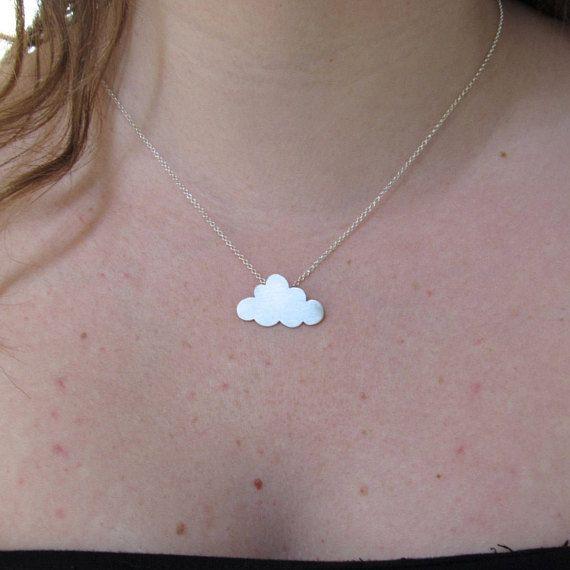 Nube collar joyería minimalista regalo dama regalo para