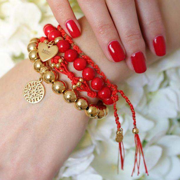#mokobelledaybyday #mokobelle #mokobellejewellery #bracelet #jewellery #jewelry #lifestyle #love #gift #idea #red #sexy #gold