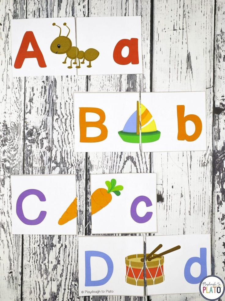 20 Amazing Alphabet Center activities!  These 20 fun, motivating alphabet games teach kids critical skills including letter names, letter sounds, ABC sequencing, letter formation and uppercase-lowercase pairing.Use them as literacy centers, small group activities, morning work or homeschool activities with preschool, pre-k or early kindergarten kids! #abcfun #alphabetcenters #playdoughtoplato