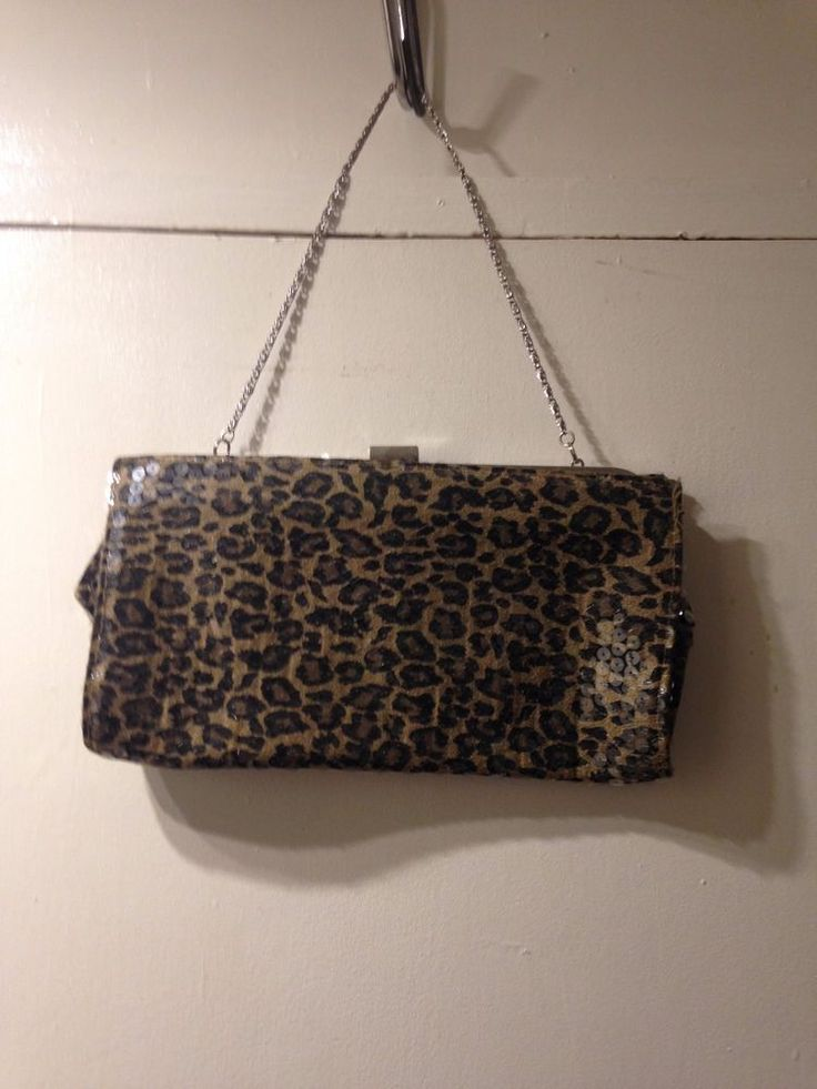 Sequin Leopard Print Clutch Bag from Atmosphere