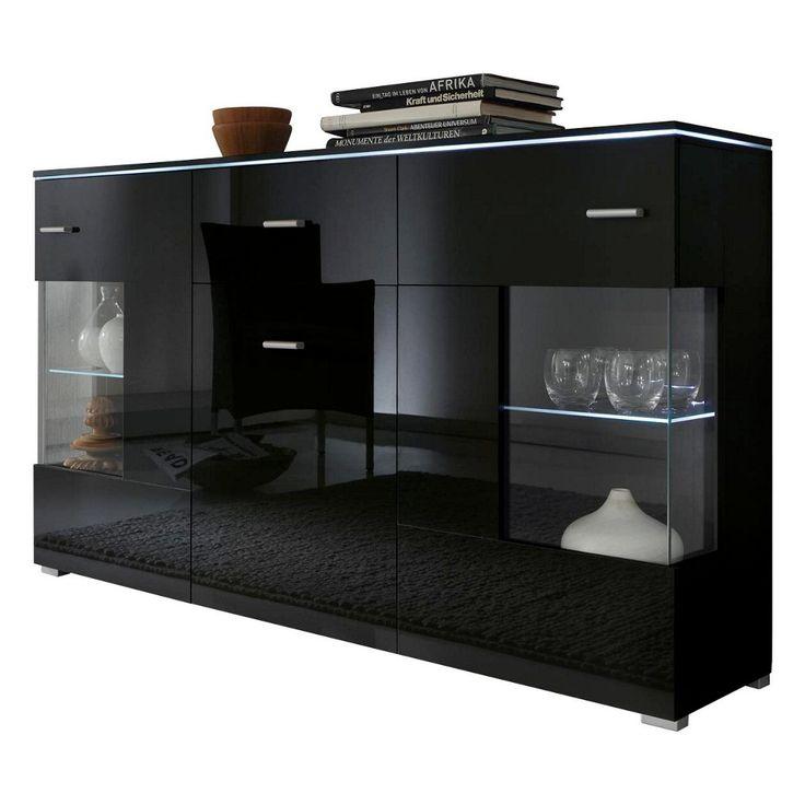 25+ best ideas about sideboard schwarz on pinterest | feminine ... - Wohnzimmer Petrol Schwarz