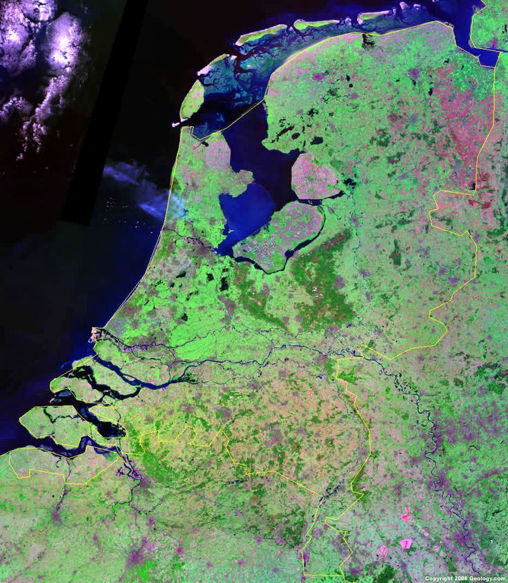 Netherlands Driving Map%0A Satellite picture of The Netherlands  Look at all that coastline