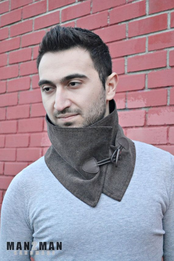 Black & Brown Unisex Scarf / Stylish Mens Scarf - Father's Day Perfect Gift - Handmade