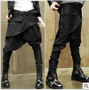 2016 New men clothing Casual Hip Hop Dance  men sweatpants the trend of fashion Trousers skinny harem pants