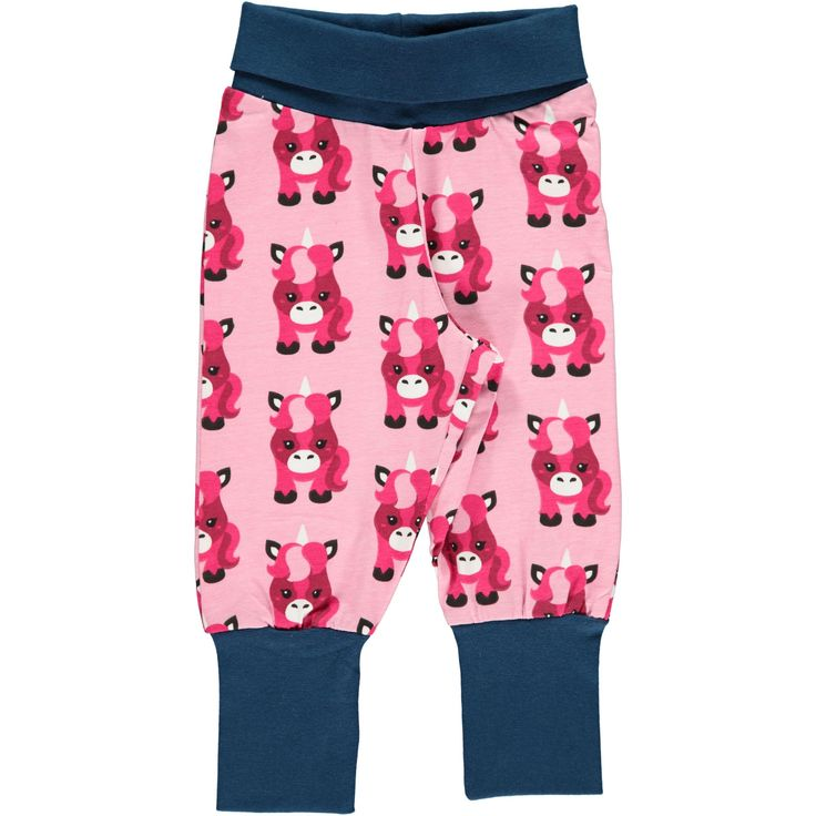 Unicorn Ribbed Pants from Maxomorra. Made from GOTS Certified Organic Cotton. Available at Modern Rascals.