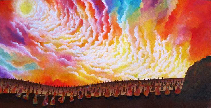 Sofia Filea www.facebook.com/sofiafileasart illustration, christmas, star, bethlehem start, jesus birth, cave