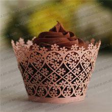 100 stück lasergeschnitten cupcake wrapper, blume spitze cupcake wrapper weihnachten hochzeit gunsten/Geburtstagsfeier Dekoration/papier handwerk(China (Mainland))