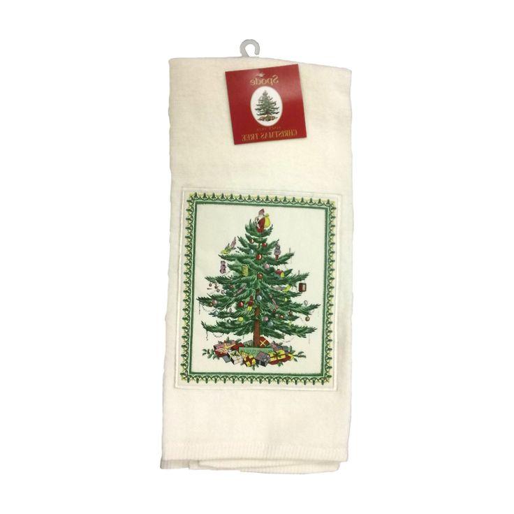 "Ivory Spode Applique Kitchen Towel (18""X28"") - Avanti"