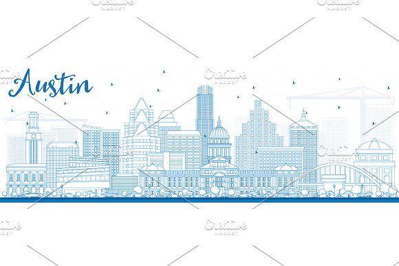 #Outline #Austin #Skyline by Igor Sorokin on @creativemarket