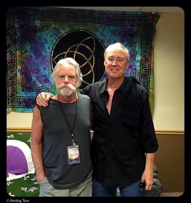 I have had the honor to met both of these amazing musicians; 8/15/15 Bob Weir and Bruce Hornsby Grateful Dead
