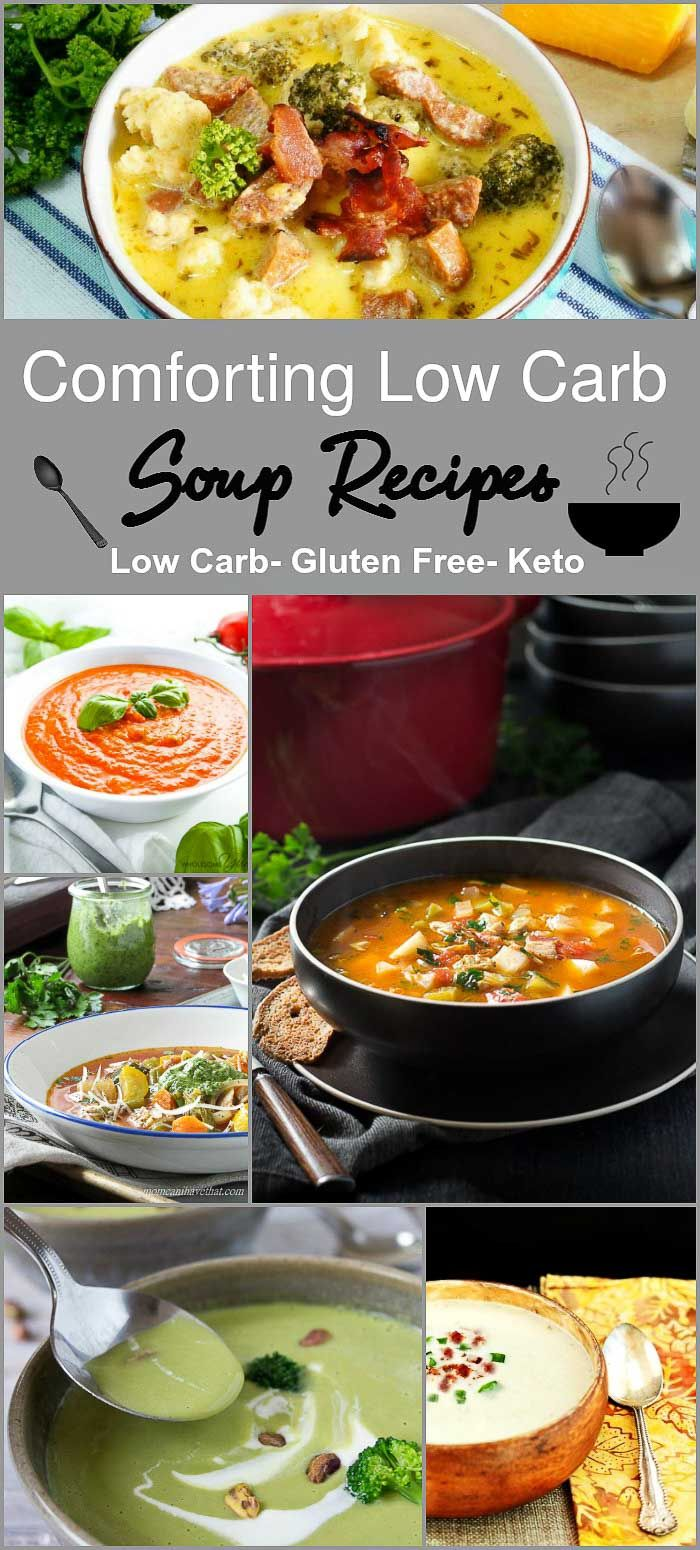 Comforting Low Carb Soup Recipes- Low Carb & Gluten Free Soup Recipes via @staceyloucraw