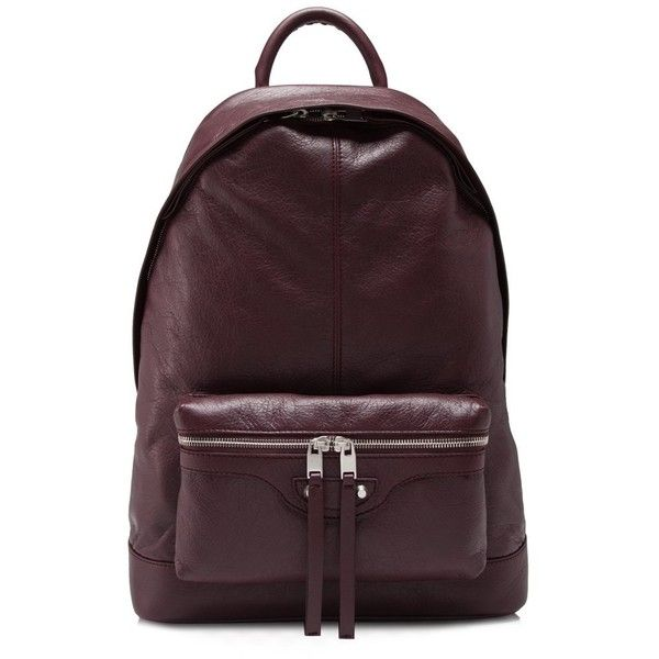 Balenciaga Classic Backpack (1,375 CAD) ❤ liked on Polyvore featuring men's fashion, men's bags, men's backpacks, brown, mens one strap backpack and mens brown leather backpack