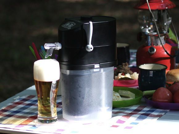 """""""cold beer"""" - The Premium Beer Server GOKUREI by Takara Tomy A.R.T.S is like a portable beer tap that will provide you with an icy cold beer on a warm day."""