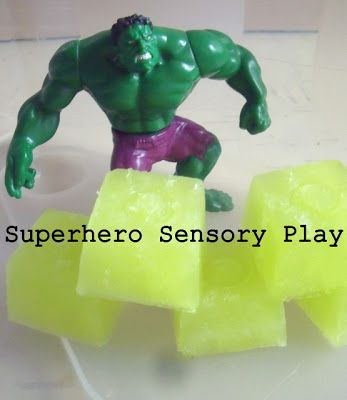 make, do & friend: Superhero Sensory - Incredible Hulk Gamma Ray Jelly