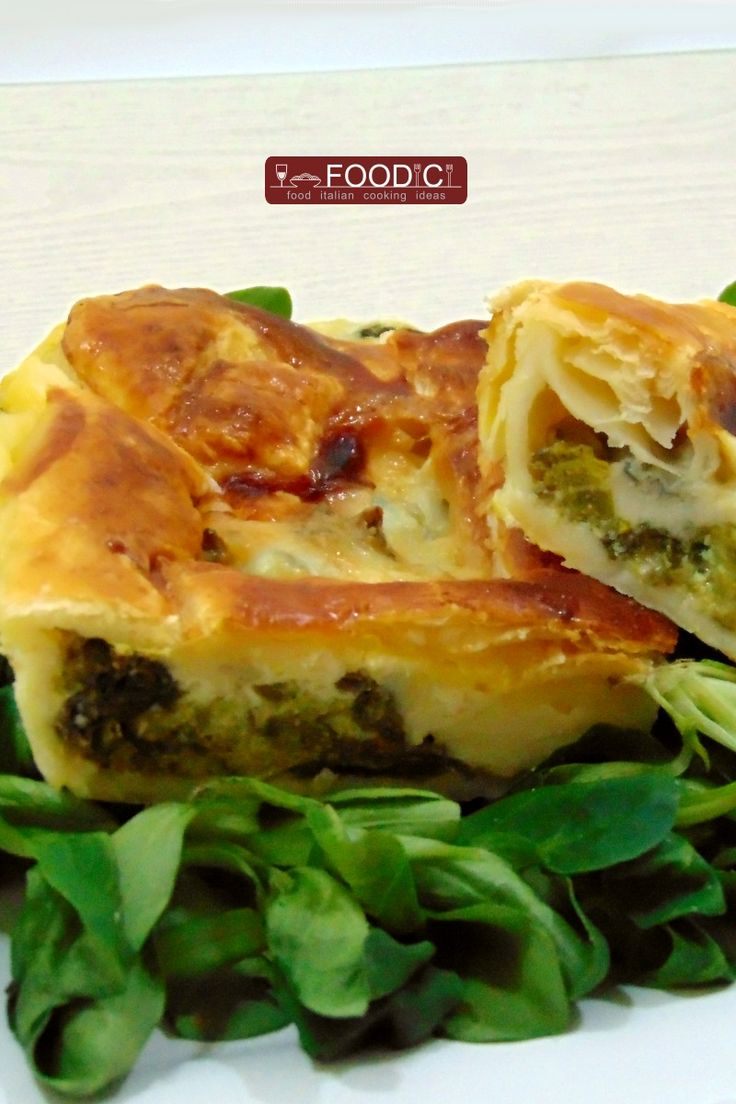 Torta rustica broccoli verdi e formaggi