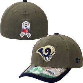Youth Los Angeles Rams New Era Olive/Camo Salute to Service 39THIRTY Flex Hat