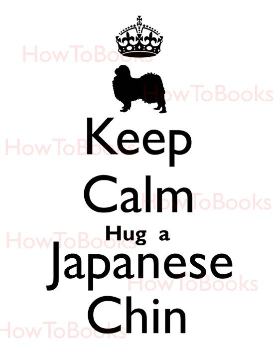 Keep Calm Hug a Japanese Chin Instant Digital Download Image Transfers For T Shirts Hoodies Tote Bags Prints Jewelry on Etsy, $1.50