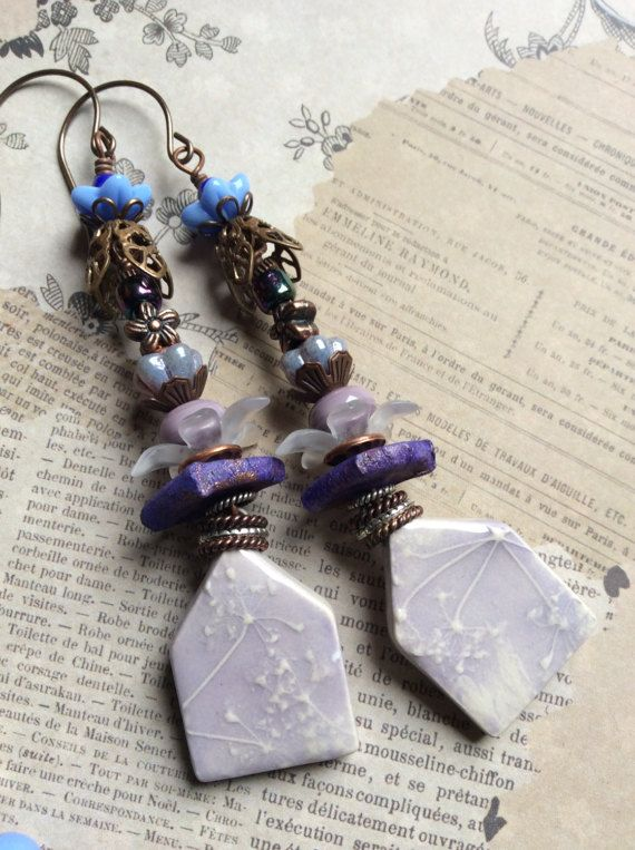 Lavender Fairy Houses .Romantic Boho by JustSlightlyVintage