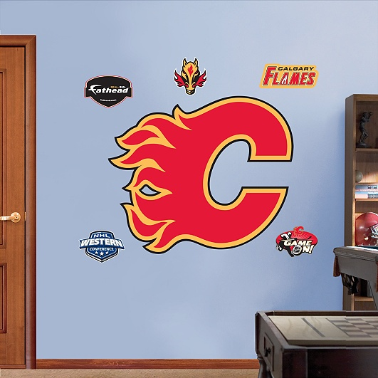 Calgary Flames Logo - Living room? This is for you Jer ;)