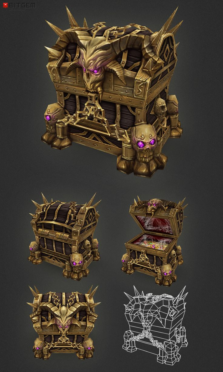 Low Poly Treasure Chest - Epic